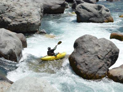 Kayak en el Ñuble de hoy